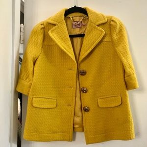 Juicy Couture yellow blazer. Size 4.